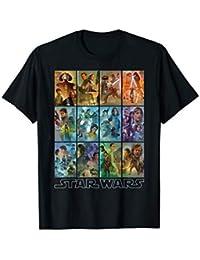 7ec92f480744 Star Wars Celebration Mural Art Panels T-Shirt