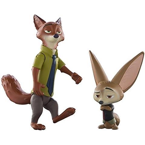 Tomy - Conjunto de 2 figuras Zoomania Nick y Finnick (L70001EU)