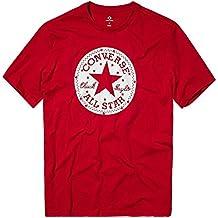CONVERSE CHUCK PATCH STAR FILL TEE - Camiseta, Hombre, Rojo(ENAMEL RED)