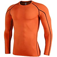 b7c79aba99e ACMEDE Men s Long Sleeve Compression Top Cool Dry Tight Long Sleeve T Shirt  Running Gym Fitness