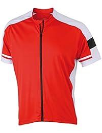 JAMES NICHOLSON - Maillot cycliste vélo VTT zippé - JN454 - blanc - homme