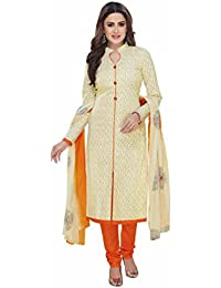 Miraan Women's Cotton Unstitched Dress Material (Multicolor_Free Size)