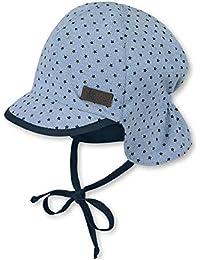 81626f190e50 Sterntaler Bonnet avec visière pour garçons, Cordons à nouer et  protège-cou, Âge