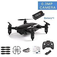 Lorenlli LF606 Drone con 0.3MP Cámara FPV Quadcopter Plegable RC Drones HD Altitude Hold Mini Drone Niños Juguetes para niños Helicóptero RC