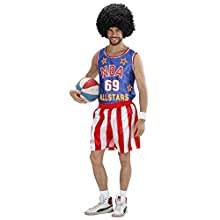 WIDMANN adult basketball player costume, top and shorts, size: M, model number: 75822