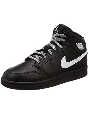 NIKE Air Jordan 1 Mid (GS), Zapatos de Baloncesto para Niños