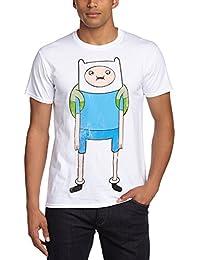 Adventure Time Men's Finn Crew Neck Short Sleeve T-Shirt
