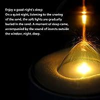 QIANGGAO Luz Nocturna de Reloj de Arena con luz de sueño-Personalidad Creativa Regalo de cumpleaños Dormitorio.