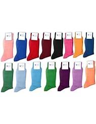 Lot 6 Paires de chaussettes homme en fil d'écosse 100%coton Couleur Assorties