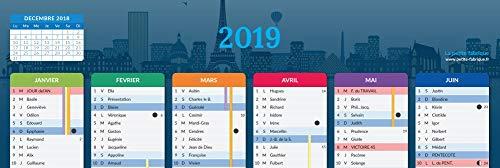 Calendrier 2019/2020 - format A4 - Papier épais - prévu pour l'écriture.