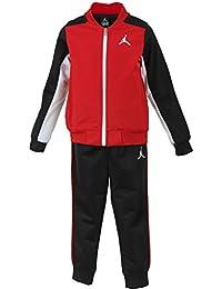 b2108821bc3 Nike Air JordanToddler Boys Tracksuit Jacket & Pants Set - Black, Gym Red  (3T