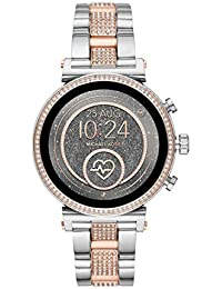 Michael Kors Womens Digital Connected Wrist Watch with Stainless Steel Strap MKT5064