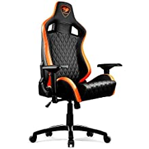 Cougar Armor-S Ergonomic Comfortable Gaming Chair, Orange/Black