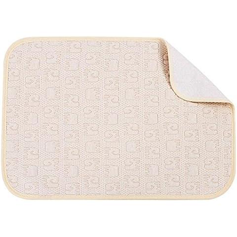 tellw algodón orgánico bebé en la almohadilla impermeable Algodón Colchón para cama de bebé Niños Transpirable Super Otoño Invierno y Verano Tamaño 40cm * 60cm