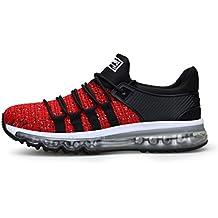 TORISKY Zapatillas de Deportes Zapatos Deportivos Running Zapatillas para Hombre Rojo Blanco Gris Azul 38-