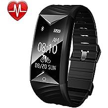 Willful SW329-BK-DE7-F, Fitness Tracker, Willful Fitness Armband Herzfrequenz IP67 Wasserdicht Uhr Schrittzähler Aktivitätstracker für iOS und Android Handy (Mit Schlaf-Monitor, Call Nachricht Reminder, Fahrrad Modus)