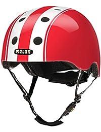 Melon Urban Active cascos - todos los diseños - todo el surtido y bandeja casco, melón de ciclismo, casco de skate, BMX-casco, sillín incluido, color Double White Red, tamaño XL-XXL (58-63 cm)