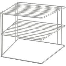Metaltex Palio - Rinconera de 3 estantes, Gris