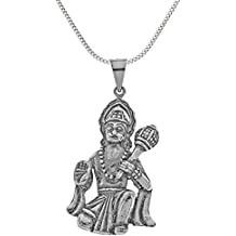 hanuman pendant and chain sterling silver hindu charms (Sterling Argento Urna)