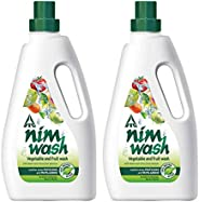 ITC's Nimwash Vegetable & Fruit Wash I 1000 ml I 100% Natural Action, Removes Pesticides & 99.9% G