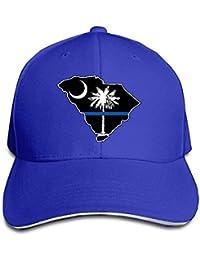 WBinHua Gorras Caps Thin Blue Line SC State Adult Adjustable Snapback Hats  Trucker Cap Unisex 66190eadc80