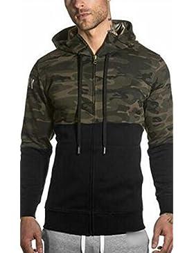 [Sponsorizzato]UMilk Uomo Pullover Felpa con cappuccio zip in tasca Giacche pantaloni da jogging(Felpe e pantaloni sono da acquistare...