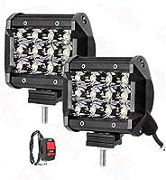 Andride 12 LED Fog Light/Work Light Bar Spot Beam Off Road Driving Lamp 36W Cree -Universal Fitting Good Fit o