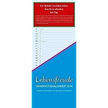 PAL Lebensfreude Wandnotizkalender 2014: Mit 12 positiven Denkanstößen