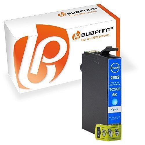 Bubprint Druckerpatrone kompatibel für T2991 XL T2991XL T2992 29 29XL Epson Expression Home XP 342 XP-245 Tinte Cyan
