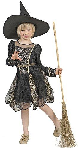 Das Kostümland Hexe Spiderweb Kostüm für Mädchen Gr. ()