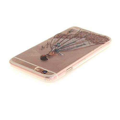 iPhone 6S Hülle,iPhone 6 Hülle,iPhone 6 6S Silikon Hülle [Kratzfeste, Scratch-Resistant], Cozy Hut iPhone 6 6S (4,7 Zoll) Hülle TPU Case Schutzhülle Silikon Crystal Kirstall Clear Case Durchsichtig, F Schönheit