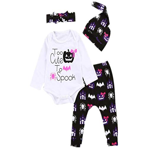 b44ddc7403e BHYDRY Halloween Newborn Infant Baby Girl Letter Romper Tops+Pants Outfits  Clothes Set Cotton Blend