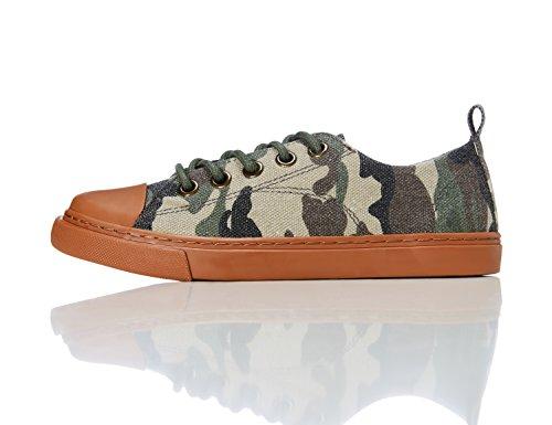 RED WAGON Jungen Flache Sneaker,  Mehrfarbig (CAMO), 25.5 EU -
