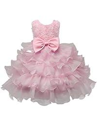 Las niñas falda traje, Internet Niños Niñas Bebé Chica Rosa Mariposa Nudo Vestido De Princesa Cumpleaños De Flores Boda Dama De Honor Desfile Princesa Vestido Formal