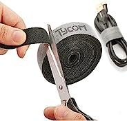 شريط ربط لاصق من تيكوم لتنظيم وترتيب الكيبلات بنمط حلقة لف قابل لاعادة الاستخدام ومرن، منظم كوابل ورابط اسلاك