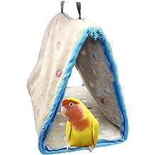 Nido de pájaro cálido para el invierno, tipo casa, para jaula de periquitos, ninfas, cacatúa, loro conuro, agapornis y pinzón