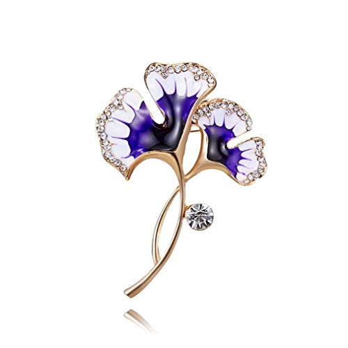ningbao771 Creative Lotus Leaf Rhinestones Brooch Elegant Brooches Jewelry for Female Pins Fashion Alloy Pin Tips for Collar