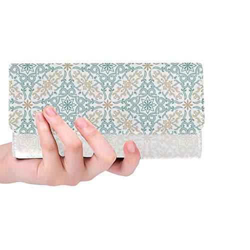 Einzigartige benutzerdefinierte Islam Grenze Frauen Trifold Wallet Lange Geldbörse Kreditkarteninhaber Fall Handtasche