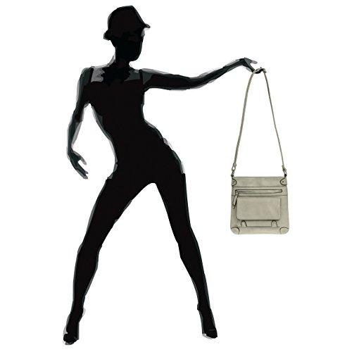 CASPAR TS922 Damen Umhänge Tasche hell grau