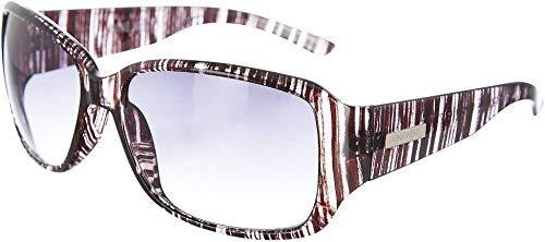 Womens Plastic Mod Square Sonnenbrille One Size Schwarz