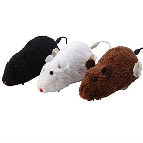 Carry stonePet Toy, Clockwork Control Running Ratte Maus für Katze Hund Haustier Lustige Heimtierbedarf Spielzeug zufällig langlebig und - Haustier Ratte Kostüm