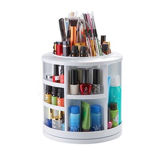 welinks 360Grad drehbar Make-up-Organizer, groß rund Make-up Aufbewahrungsbox Fall, drehbar Organisation Tischplatte Karussell Kosmetische Aufbewahrungshalterung - Nicht Toxische Hautpflege