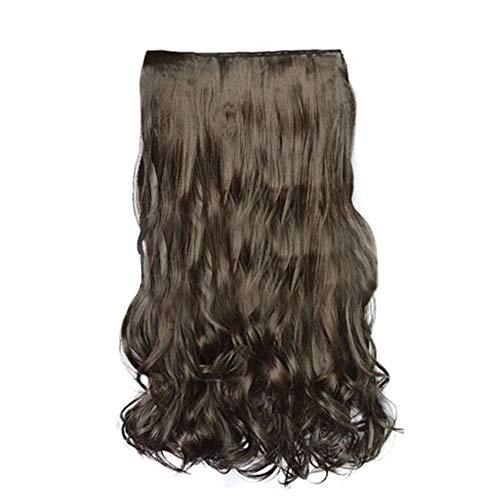 pitashe Perücke Locken Damen Haarteil Fashion Kunsthaar Perücken für alle Anderen Anlass mit Clip-In (Tina Turner Perücke Halloween)