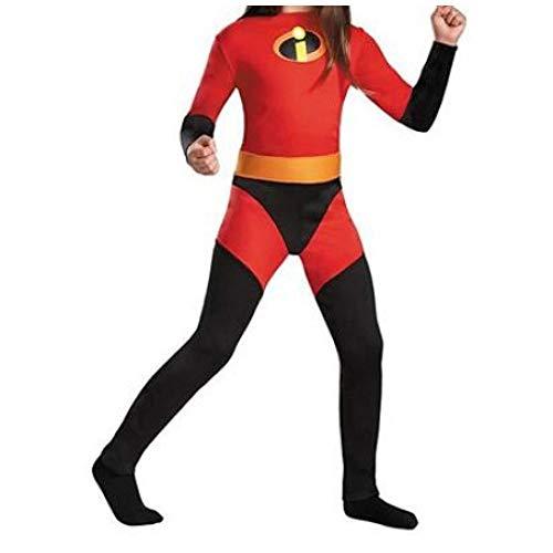 The Incredibles Kostüm Kind Erwachsener Cosplay Onesies Superhelden Halloween Mottoparty 3D Druck Strumpfhosen,Girl-M