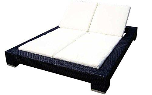 Baidani Designer Lounge-Liege Butterfly, schwarz