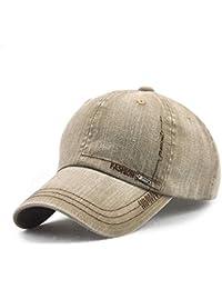 b66f23e17617a FUBULE Lavado Viejo Sombrero de béisbol Color Puro Hombres y Mujeres Simple  Visera al Aire Libre