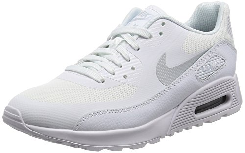 Nike Damen Wmns Air Max 90 Ultra 2.0 Sneakers, Elfenbein (White/Mtlc Platinum/White/Black), 38 EU