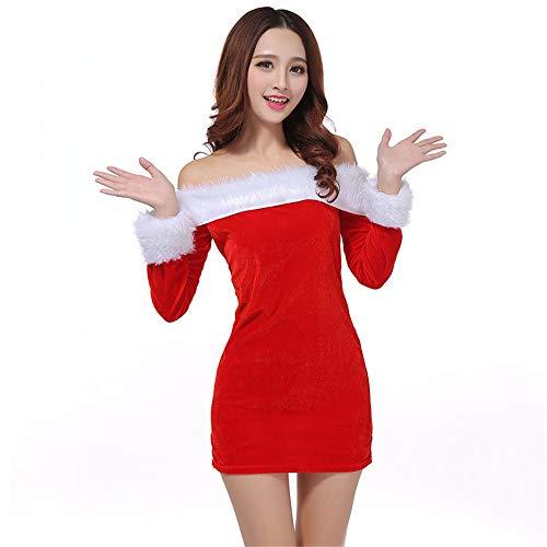 Kostüm Mädchen Santa Cute - Wanlianer Weihnachtsmann-Kostüm Santa Claus Kostüm mit Santa Claus Cute Dress, Rollenspiel Set für weibliche Mädchen Velvet Weihnachtsfest Kostüm