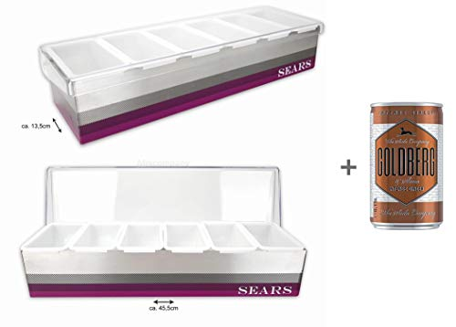 Sears Bar-Zutatenbehälter Cocktail Organiser Bar Caddy - 2er Set + Goldberg Intense Ginger 0,15l EINWEG
