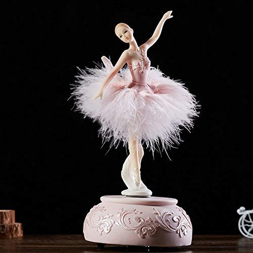 MENGYANLI für Thanksgiving Elegant und verfeinert Ballerina Tanz Karussell Spieluhr Barbie Feder Spieluhr DIY Hochzeit Geburtstagsgeschenk für Mädchen (Barbie Antik)
